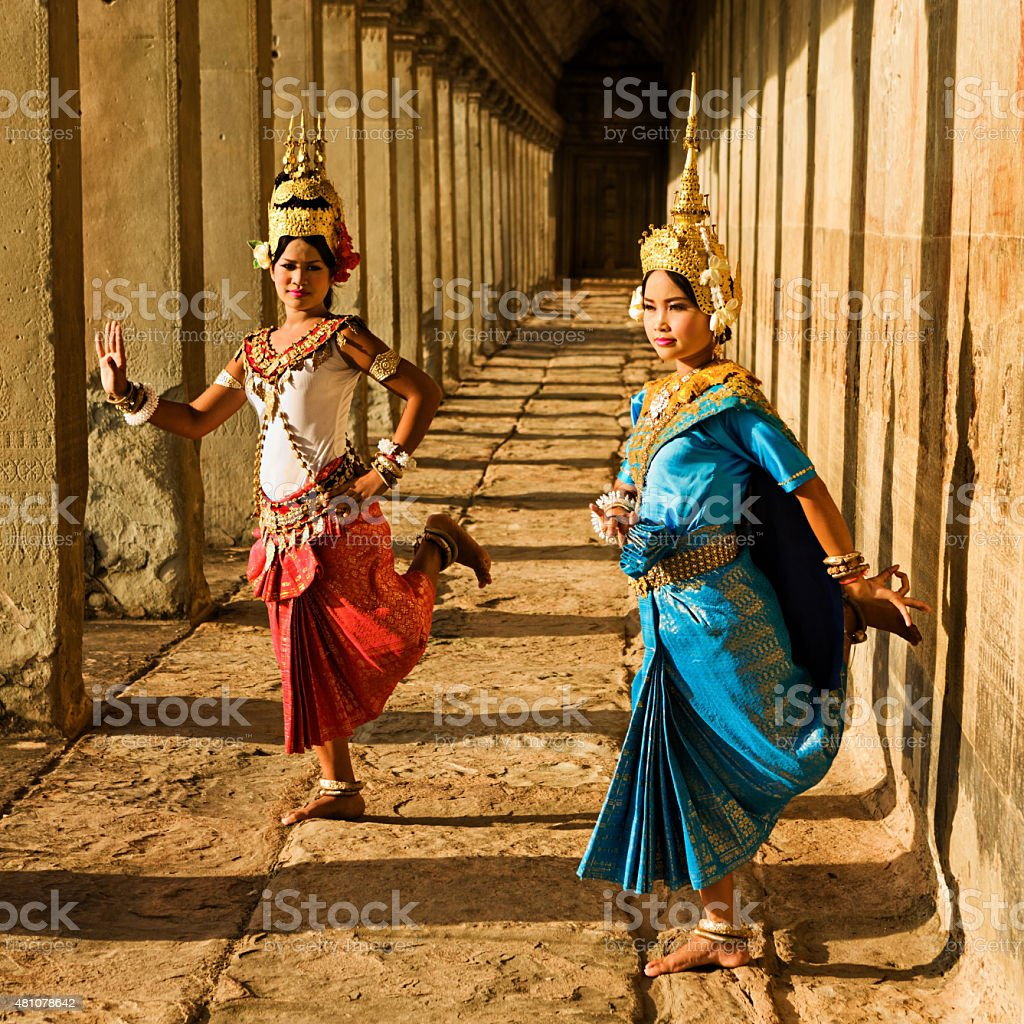 Apsara Dancers at Angkor Wat stock photo