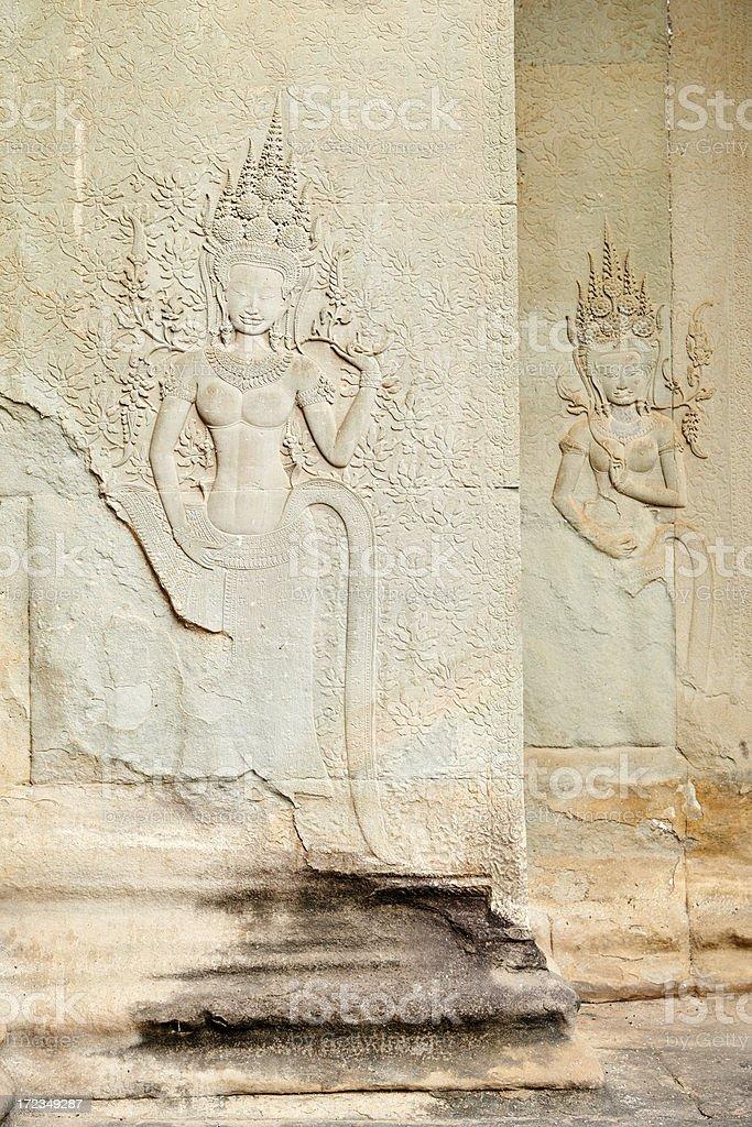Apsara Dancers royalty-free stock photo