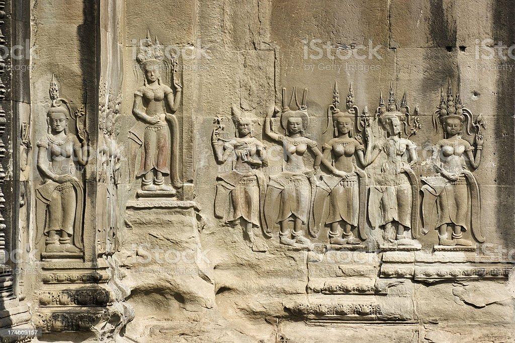 Apsaras Dancers of Angkor Wat royalty-free stock photo