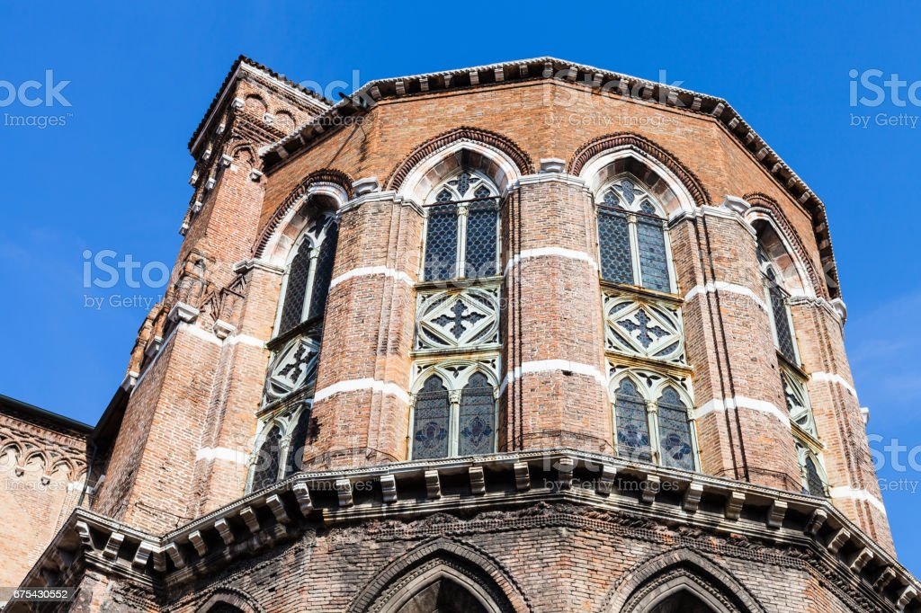 apse of Frari Church in Venice city stock photo