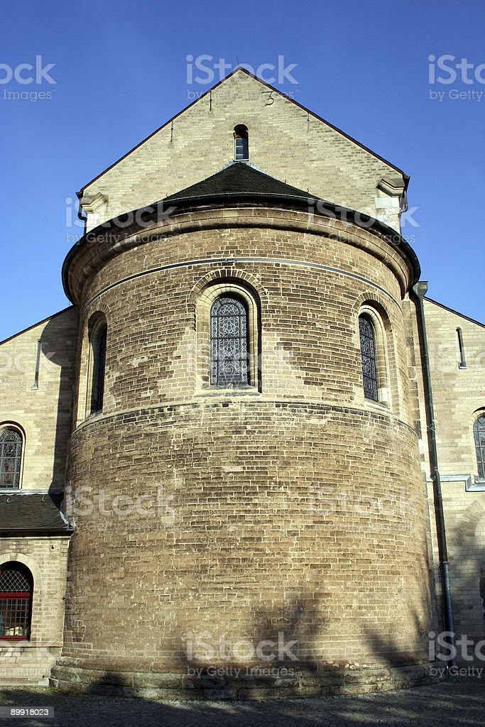 apse of medieval basilica royalty-free stock photo