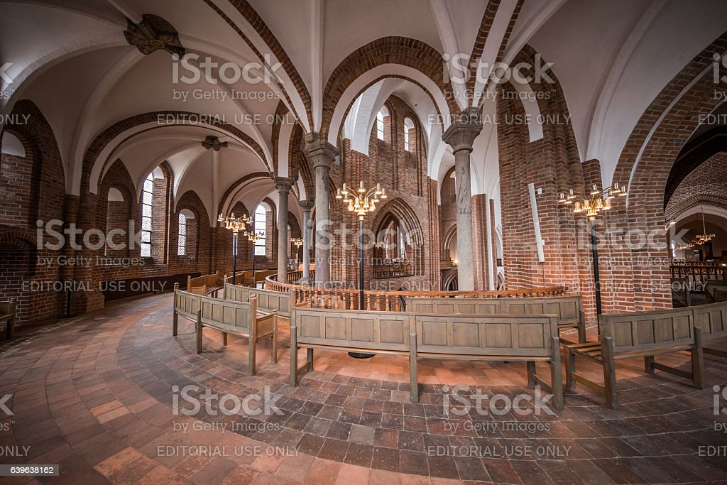 Apse of Roskilde Cathedral, Roskilde, Denmark stock photo