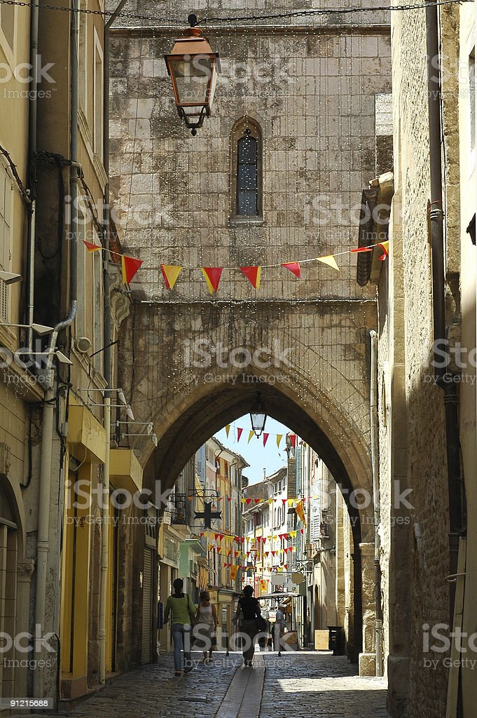 Apt (Provence), Main street of the ancient town royalty-free stock photo