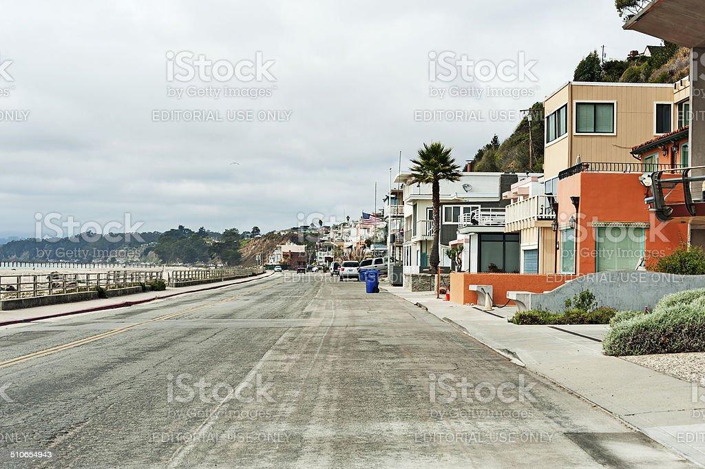 Aptos Frontage Road stock photo