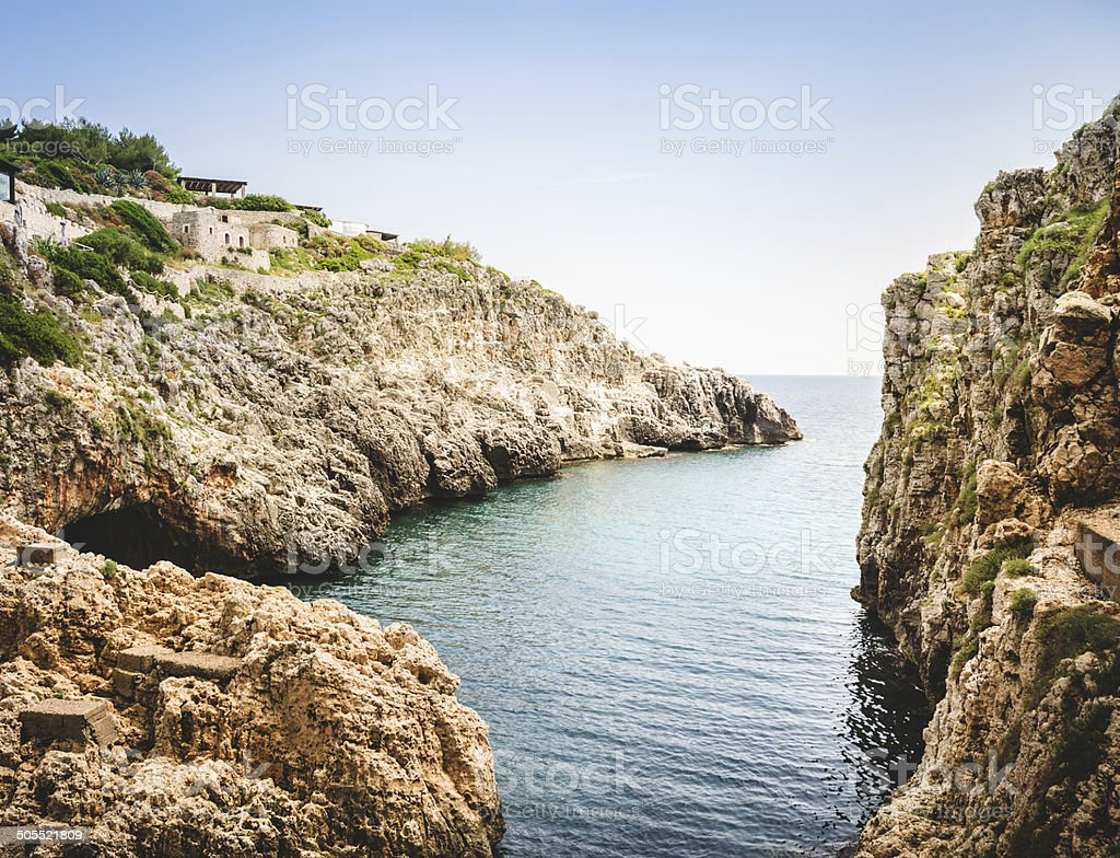 apulia rock landascape royalty-free stock photo