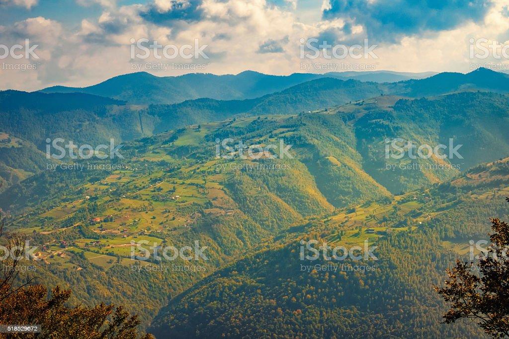 Apuseni Mountains Carpathians near Lake Tarnita and Cluj Romania stock photo
