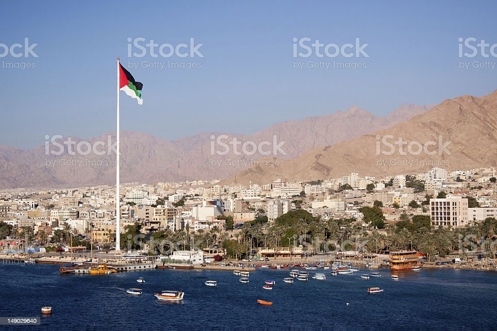 Aqaba in Jordan stock photo