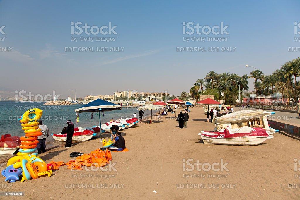 Aqaba, Joardan stock photo
