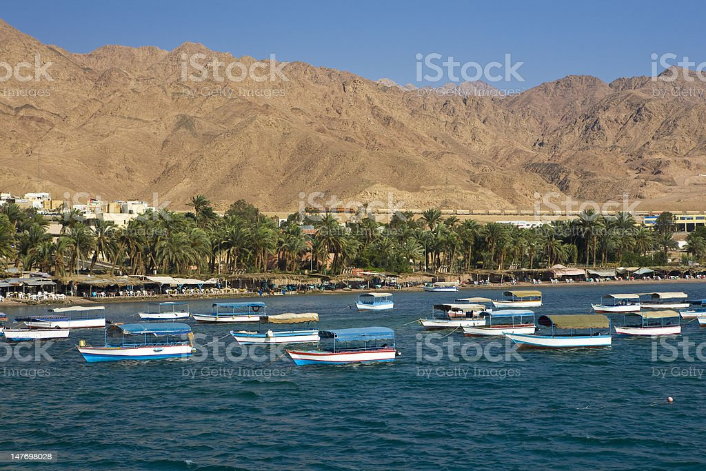 Aqaba tourist resort stock photo