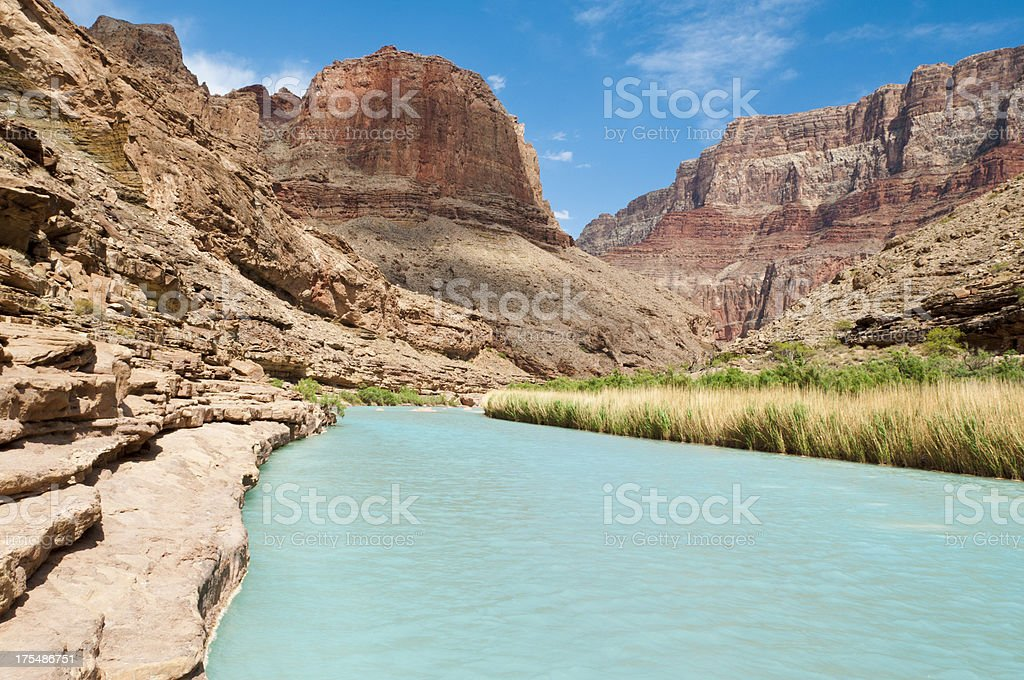 Aqua Colored Little Colorado River stock photo