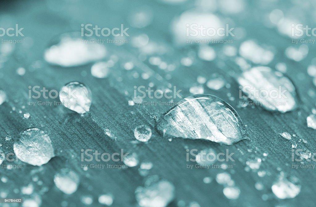 aqua drops (rain) royalty-free stock photo