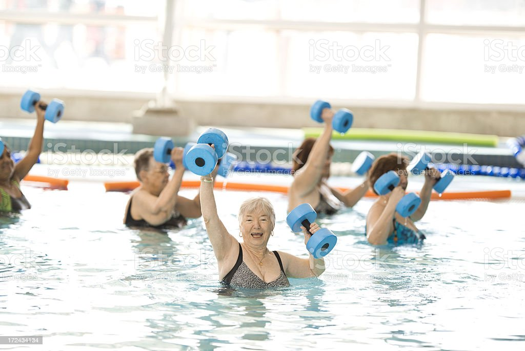 Aqua Fit, Water Aerobics royalty-free stock photo