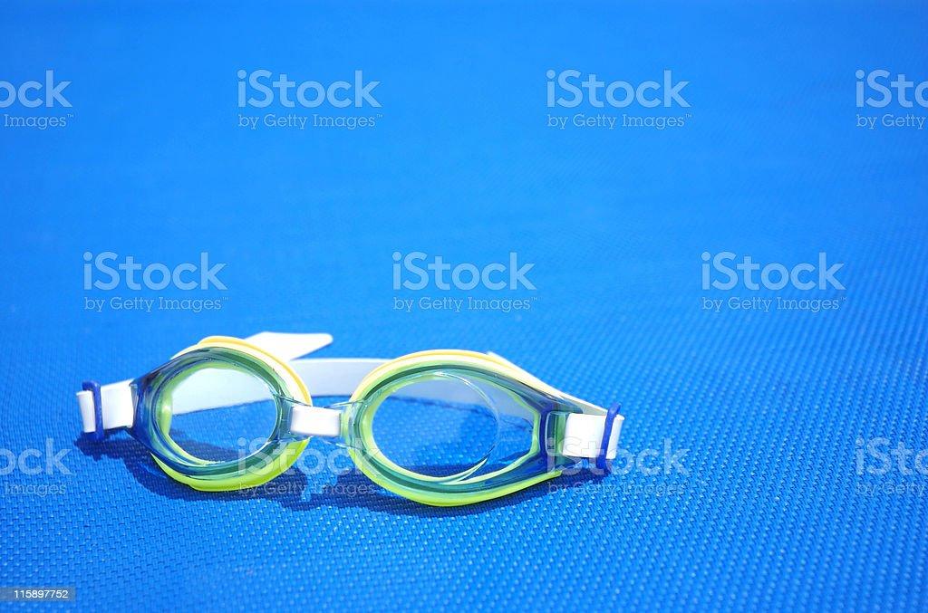 aqua goggles royalty-free stock photo