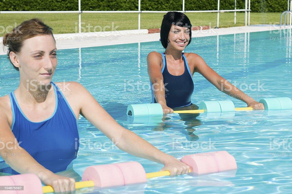 Aqua gym fitness exercise royalty-free stock photo