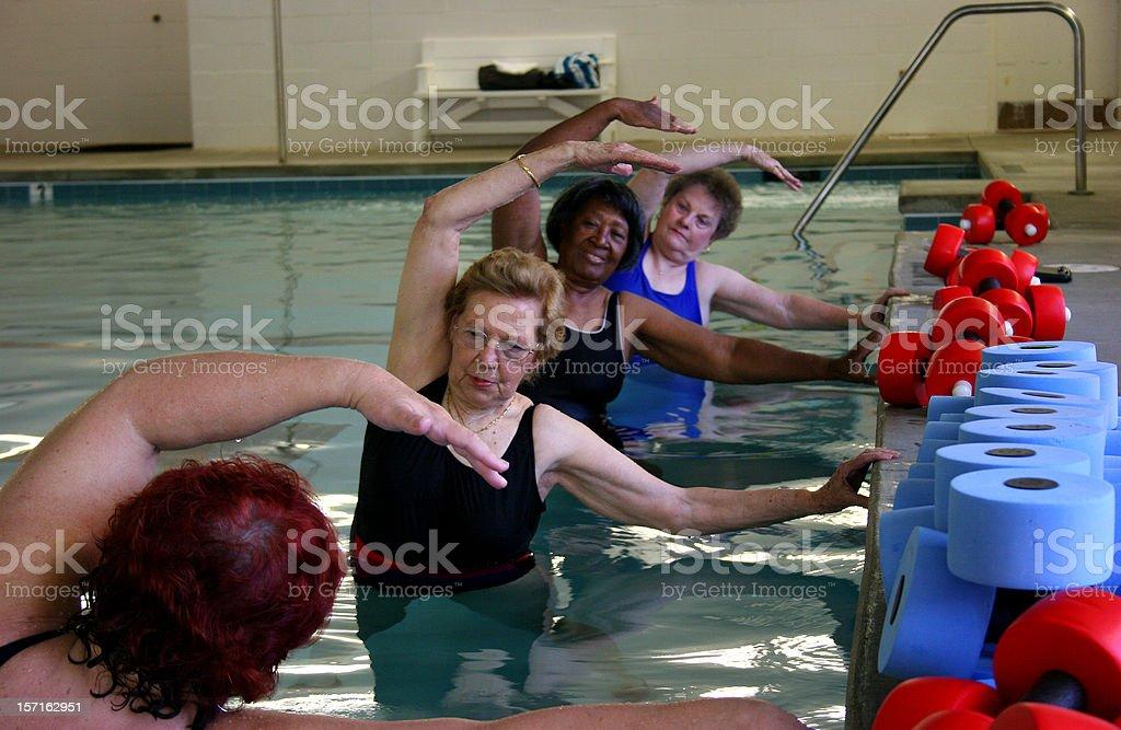 Aqua Ladies stock photo