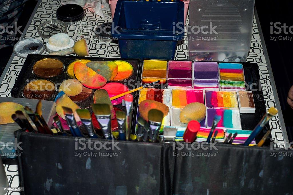 Aqua paint stock photo