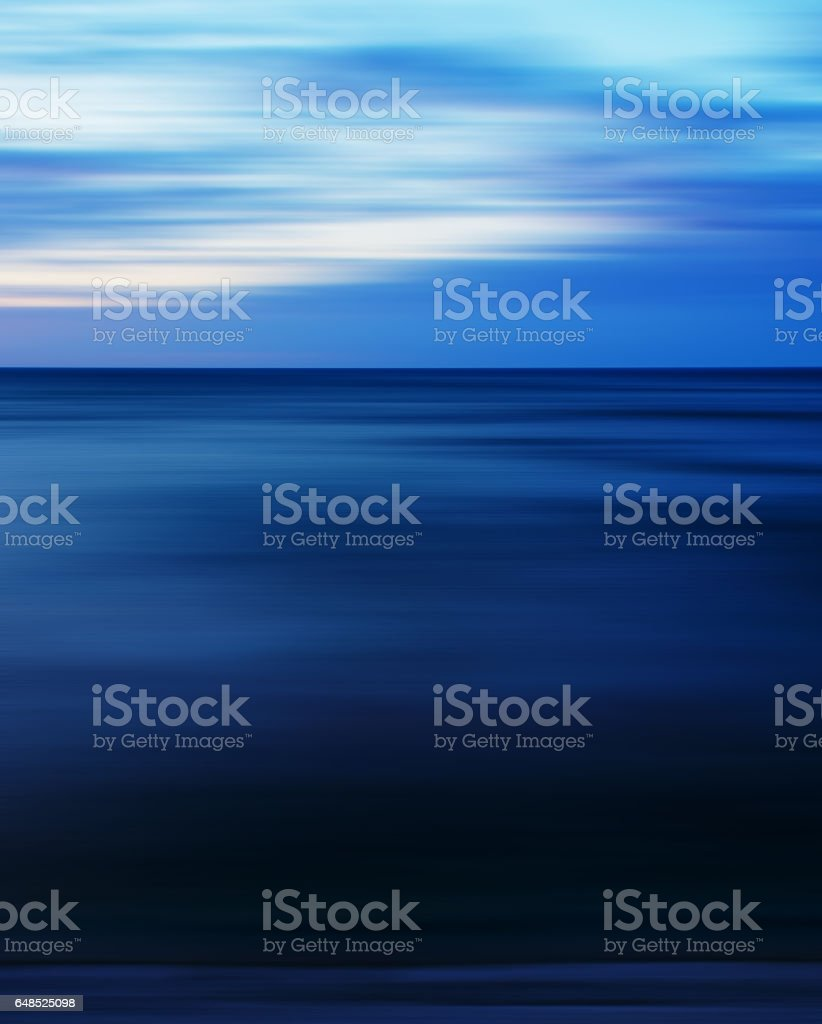 Aqua pale sunset blur abstraction stock photo