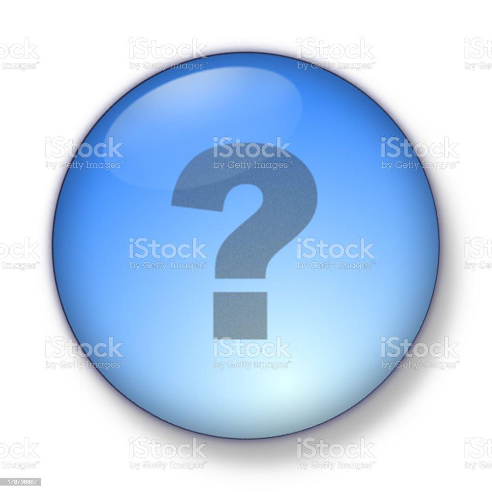 3D Aqua - question mark stock photo