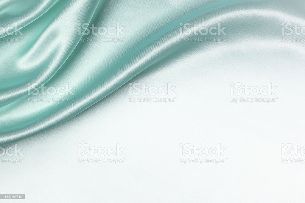 Aqua Silk Background stock photo