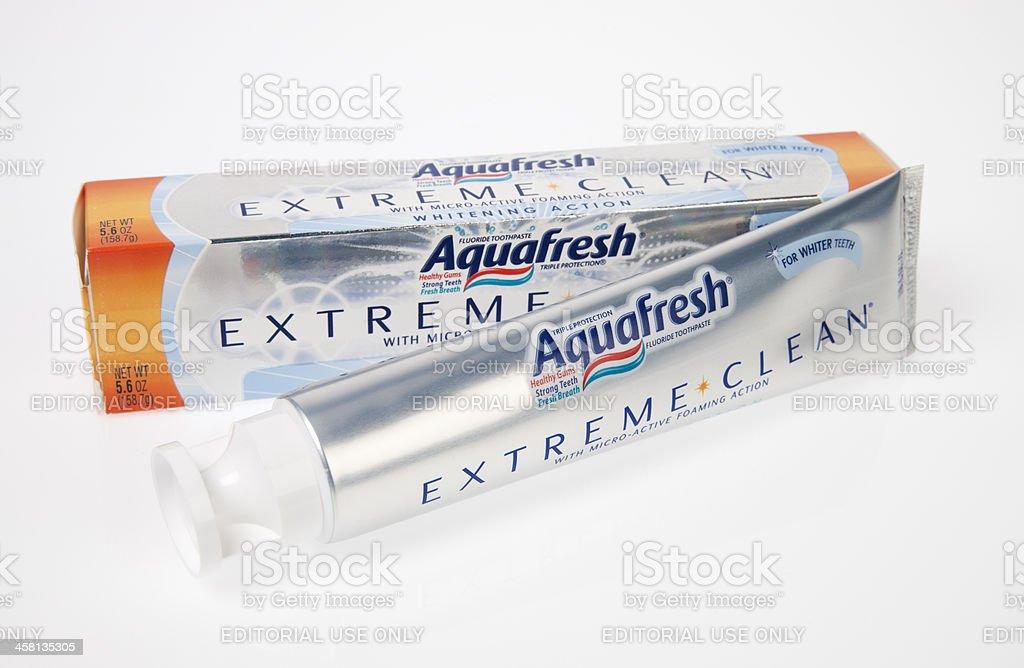 Aquafresh toothpaste. stock photo