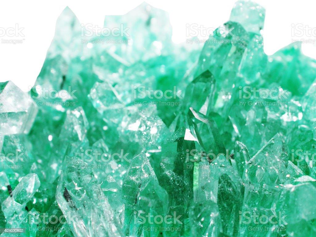 aquamarine crystal quartz geode geological crystals stock photo