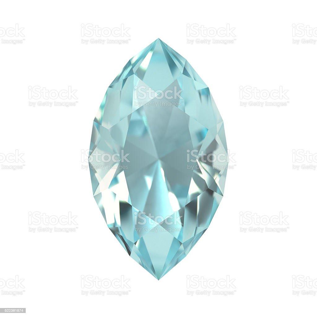 Aquamarine, Gem, Jewel stock photo
