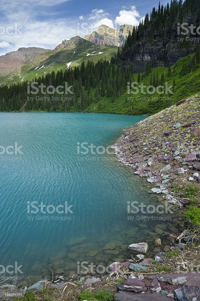 Aquamarine Glacial Lake royalty-free stock photo