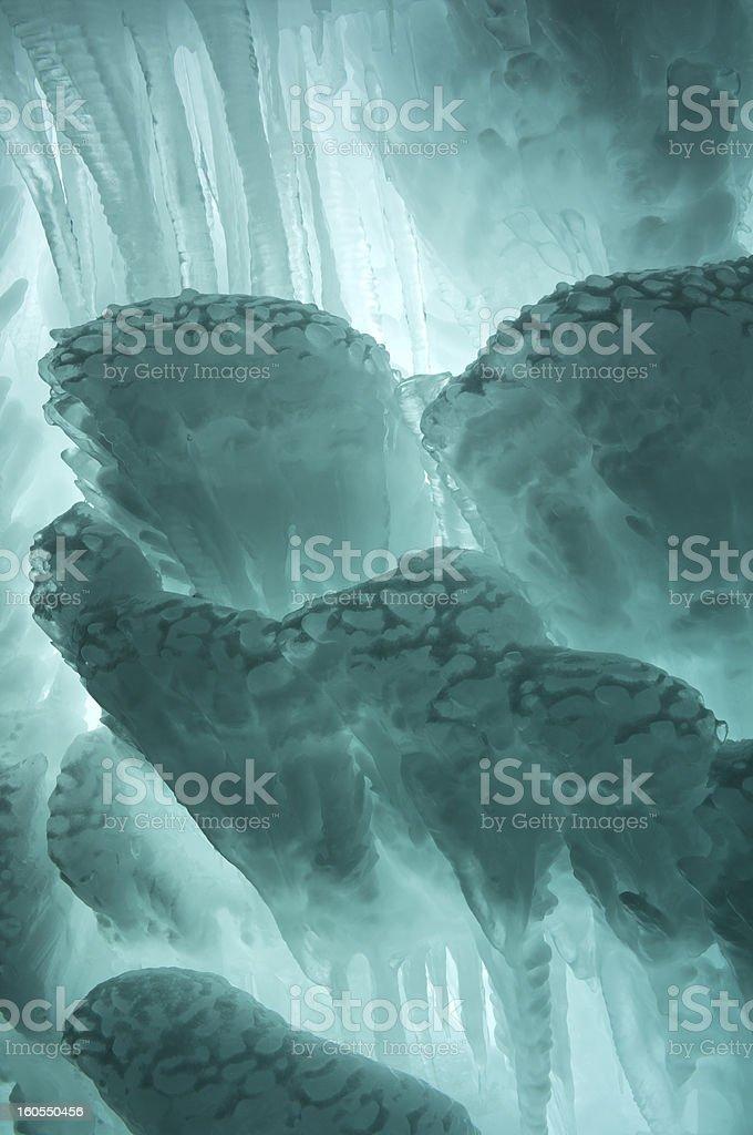 Aquamarine Ice Abstract royalty-free stock photo