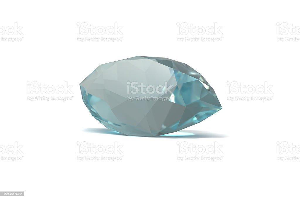 Aquamarine, Jewel, isolated on White stock photo