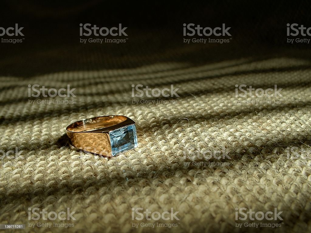 Aquamarine ring royalty-free stock photo