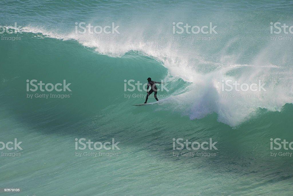 Aquamarine surfer royalty-free stock photo