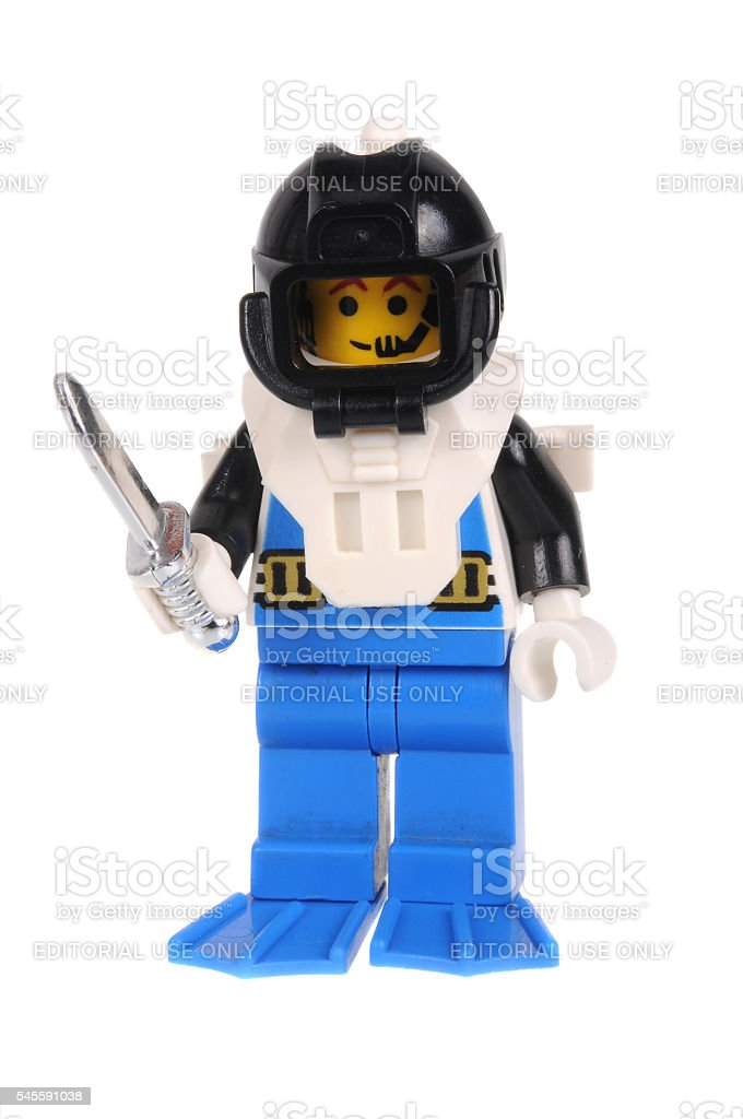 Aquanaut Lego Minifigure stock photo