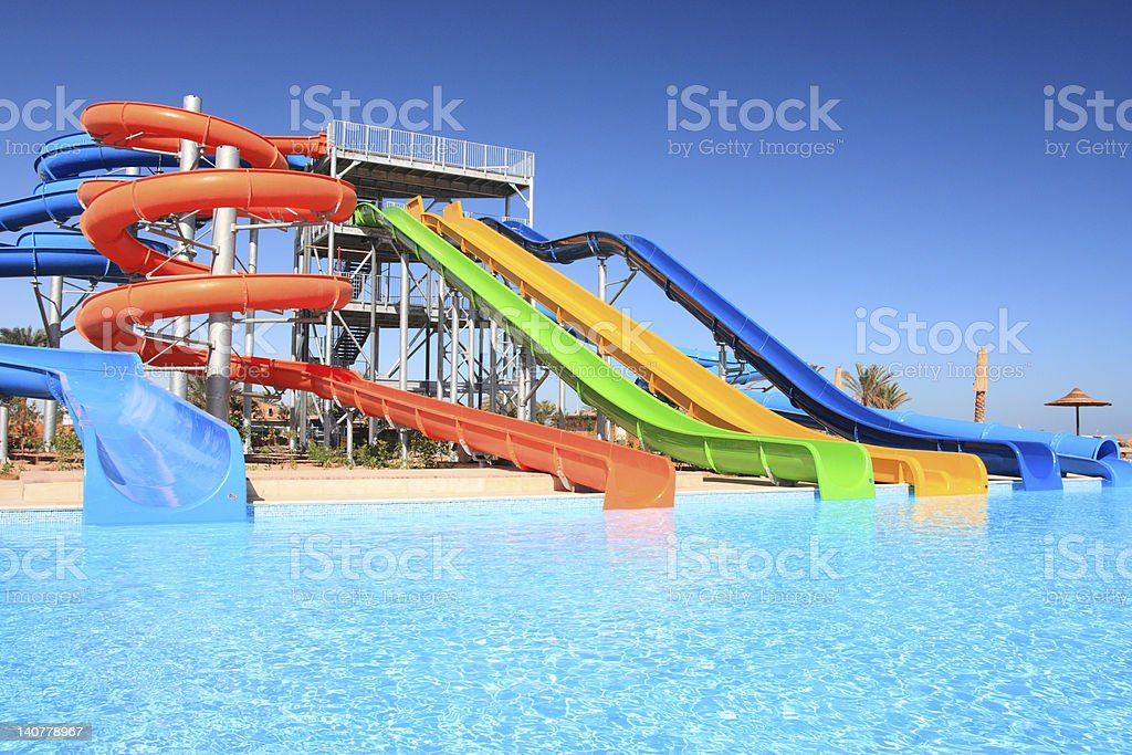 Aquapark. stock photo