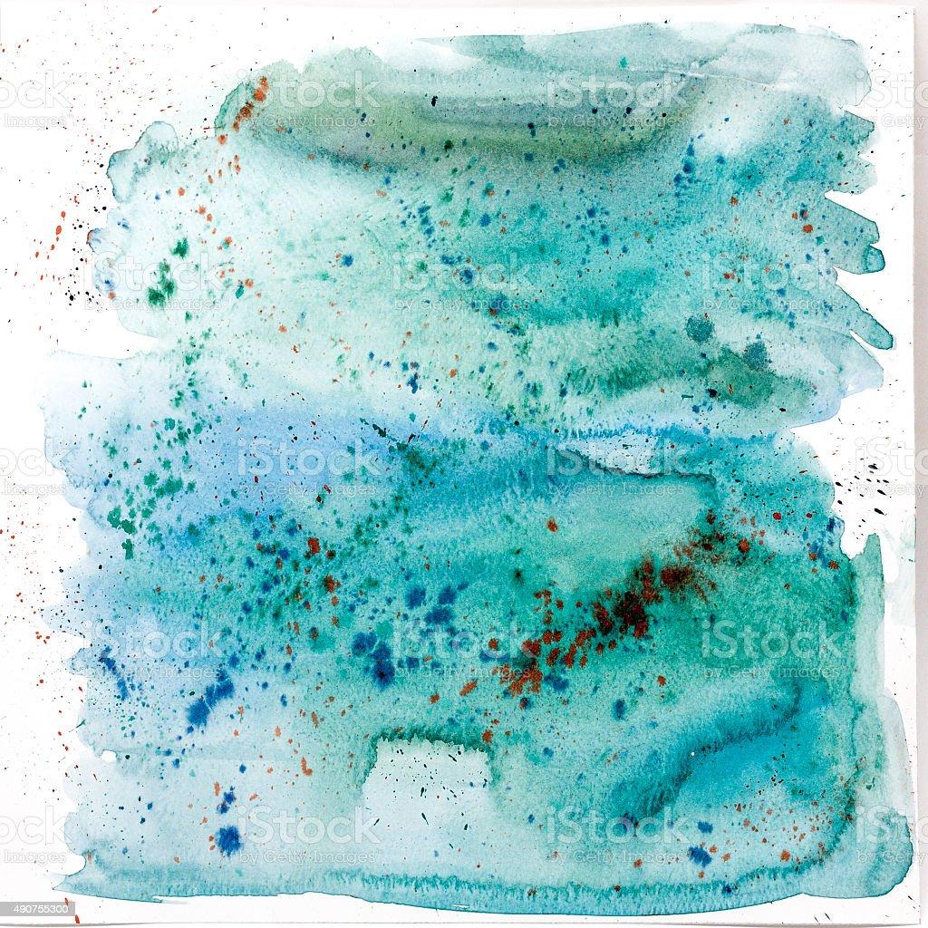 Aquarelle art bluish background stock photo