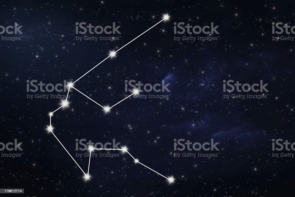 aquarius horoscope star sign stock photo