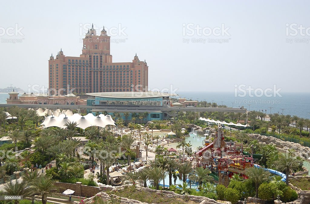 Aquaventure waterpark of Atlantis the Palm hotel stock photo