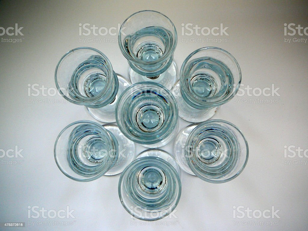 Aquavit glasses stock photo