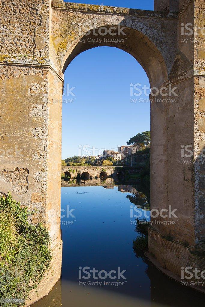Aqueduct of Nepi. Lazio. Italy. stock photo
