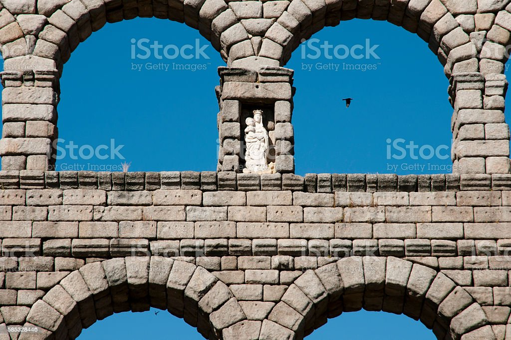 Aqueduct of Segovia - Spain stock photo