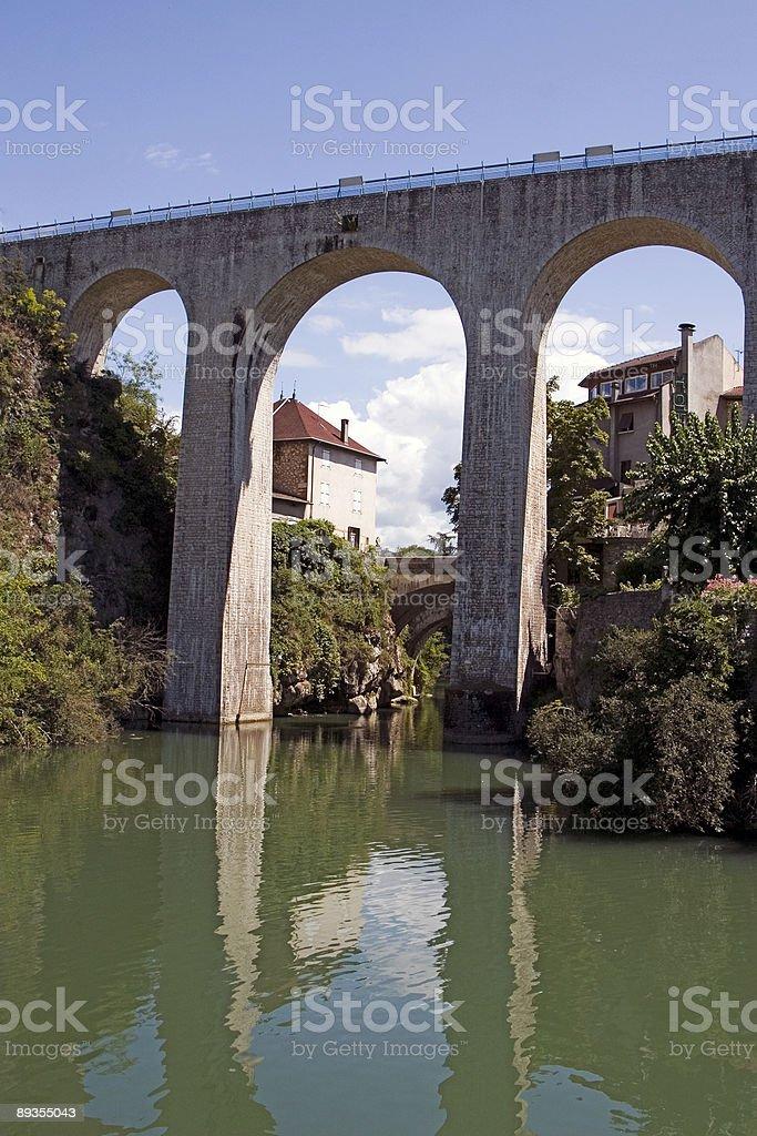 Aqueduct of St. Nazaire en Royans (Vercors region, France) stock photo