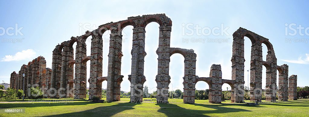 Aqueduct of the Miracles stock photo