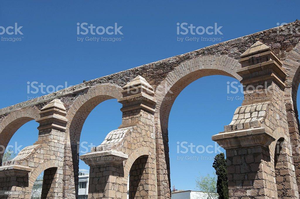 Aqueduct of Zacatecas, Mexico stock photo