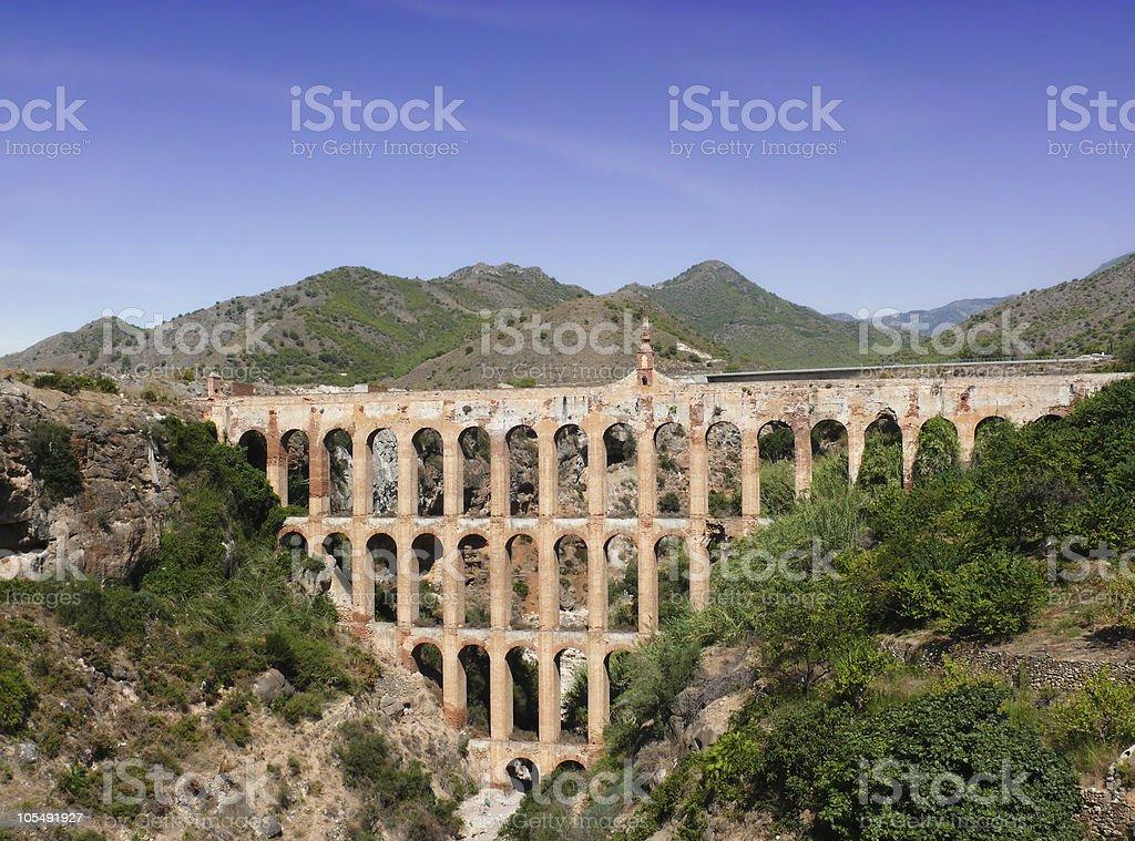 Aqueduct an der Costa del Sol. Spanien Lizenzfreies stock-foto