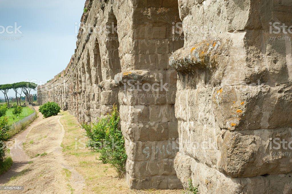 Aqueduct Park (Parco degli Acquedotti) Roma - Italy stock photo