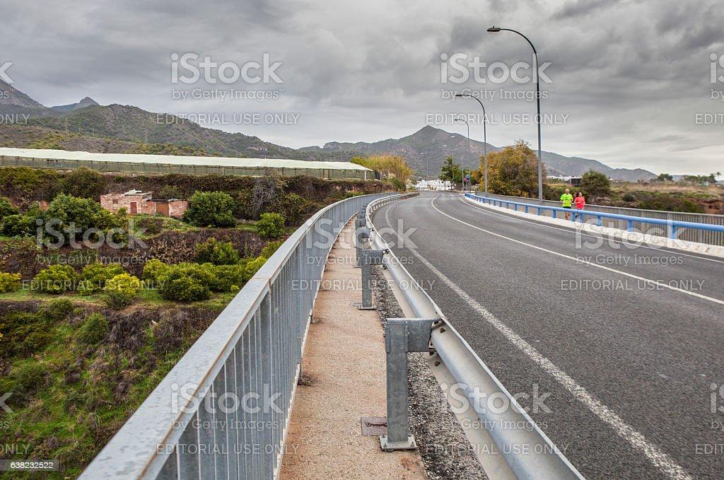 Aqueduct Puente del Aguila, Nerja, Spain stock photo