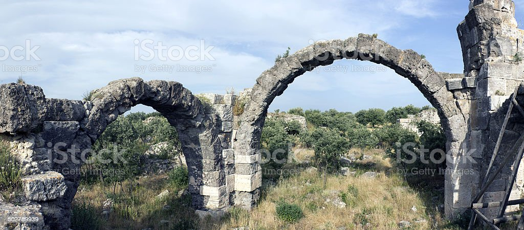 Aqueducts of Antiocheia stock photo
