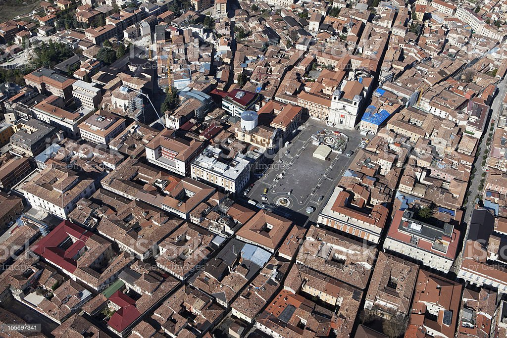 L'Aquila after the earthquake royalty-free stock photo