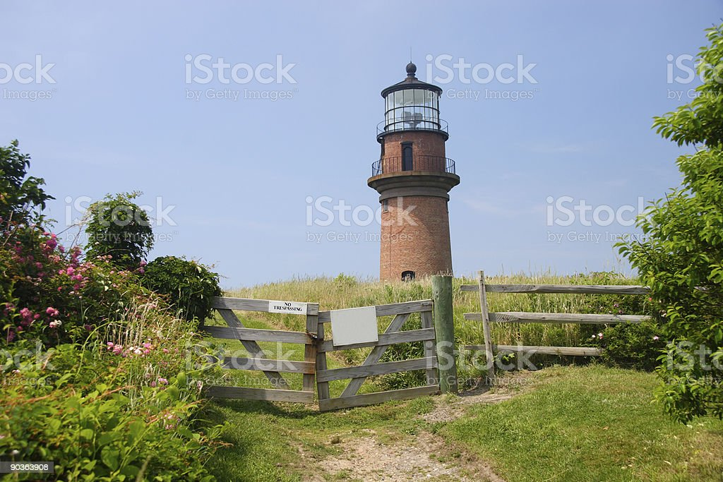Aquinnah, Gay Head, lighthouse in Martha's Vineyard Massachusetts royalty-free stock photo