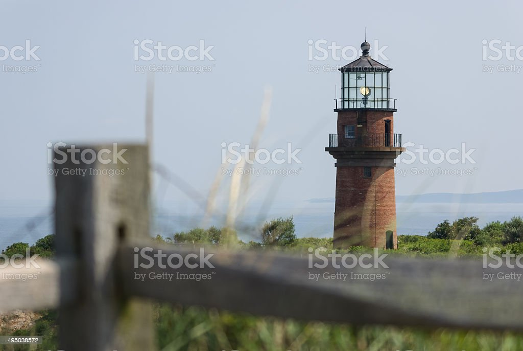 Aquinnah Lighthouse stock photo