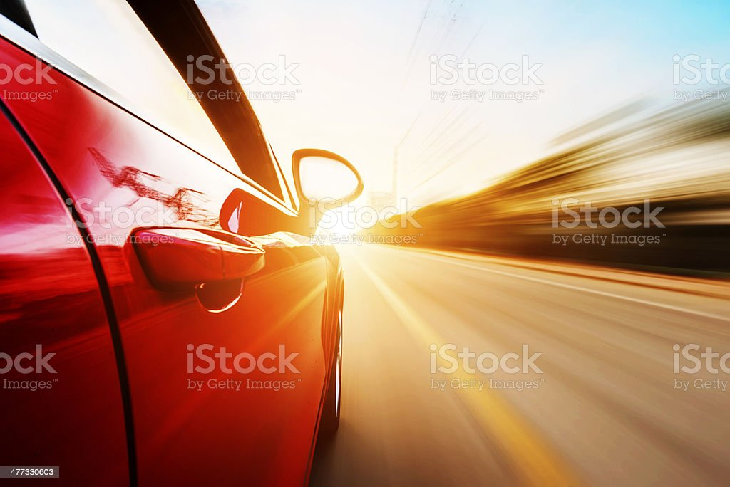 ar driving on a motorway at high speeds stock photo